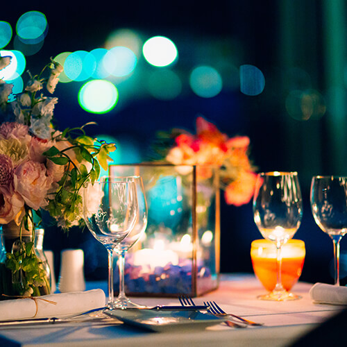 Romantik pur: ein Candle Light Dinner zuhause