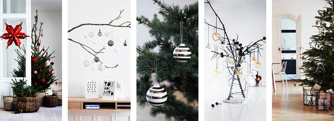 Schwarz Weiße Weihnachtsdeko.Skandinavische Weihnachtsdeko
